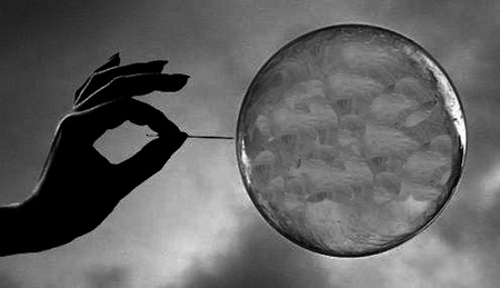 popping a bubble