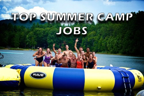 top summer camp jobs