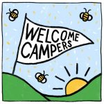 welcome campers art